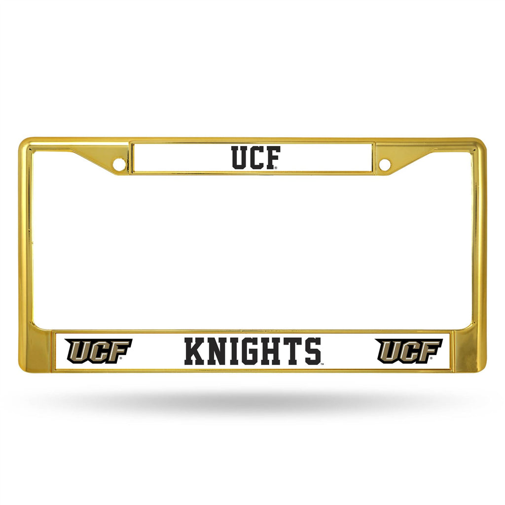 Rico NCAA Central Florida Knights (UCF) Colored Auto Tag Chrome Frame FCC Gold