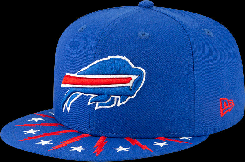 New Era NFL Men's Buffalo Bills 2019 NFL Draft On Stage Official 9FIFTY Adjustable Snapback Hat Blue OSFA
