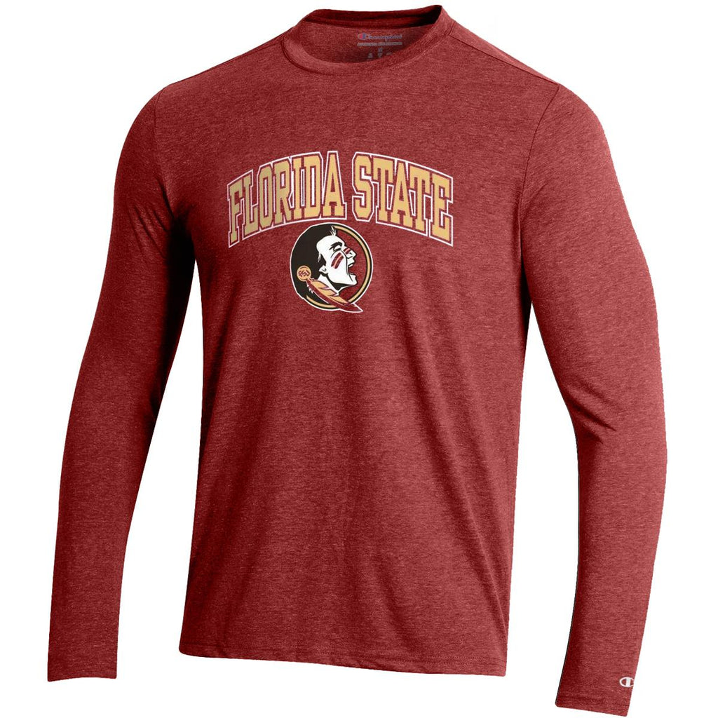 Champion NCAA Men's Florida State Seminoles Field Day Heathered Long Sleeve Shirt