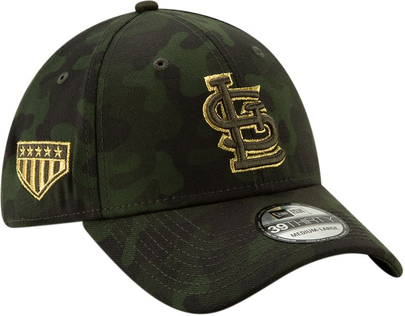 New Era MLB Men's St. Louis Cardinals Armed Forces Day On-Field 39THIRTY Flex Fit Hat