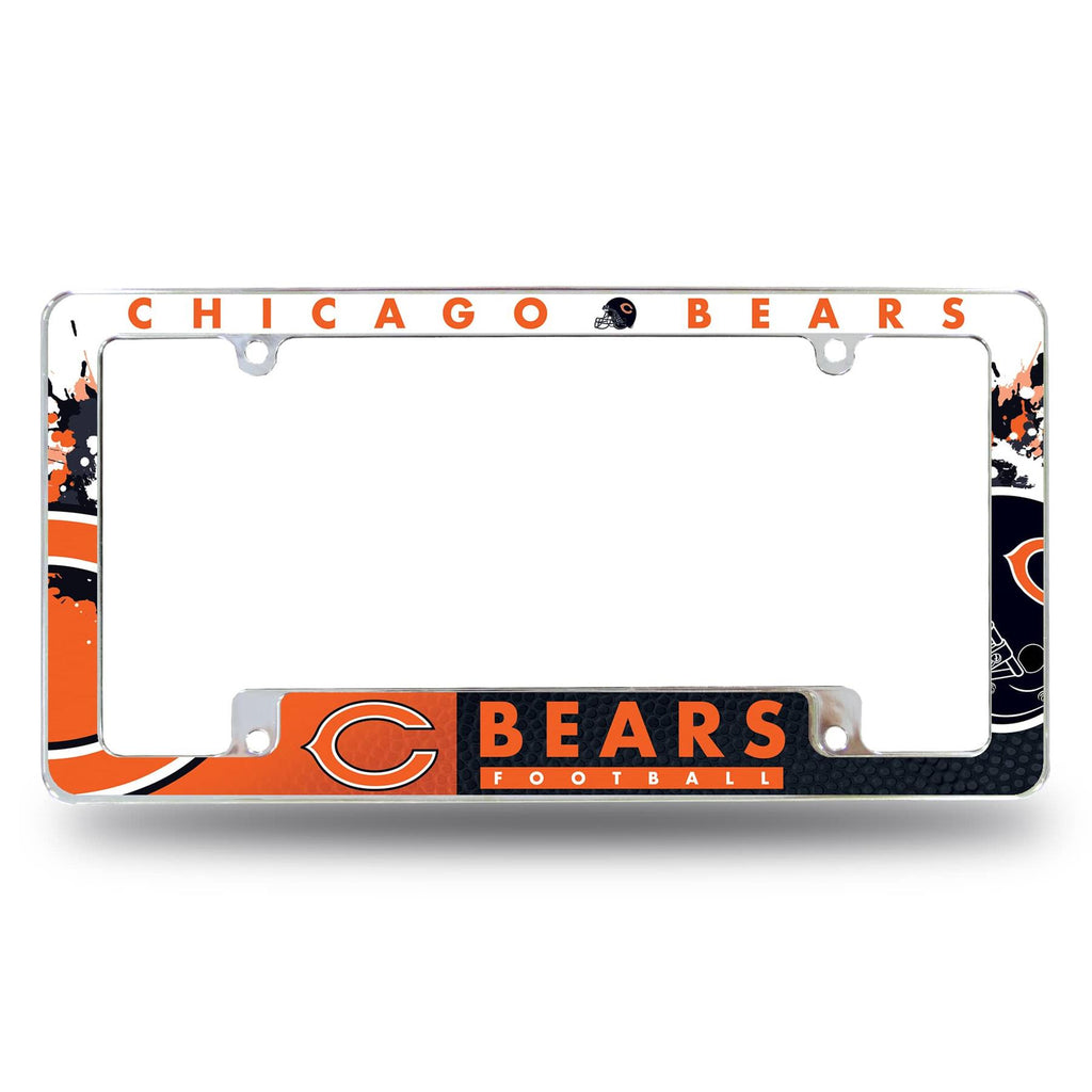 Rico NFL Chicago Bears Auto Tag All Over Chrome Frame AFC