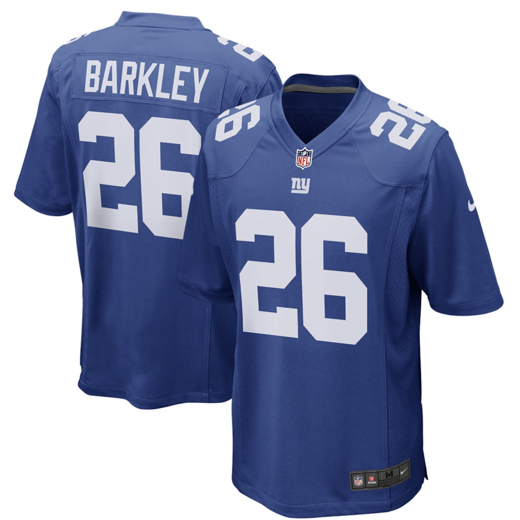 Nike NFL Men's #26 Saquon Barkley New York Giants Game Jersey