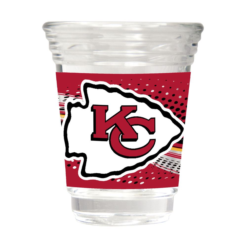 Great American Products NFL Kansas City Chiefs Party Shot Glass w/Metallic Graphics 2oz.