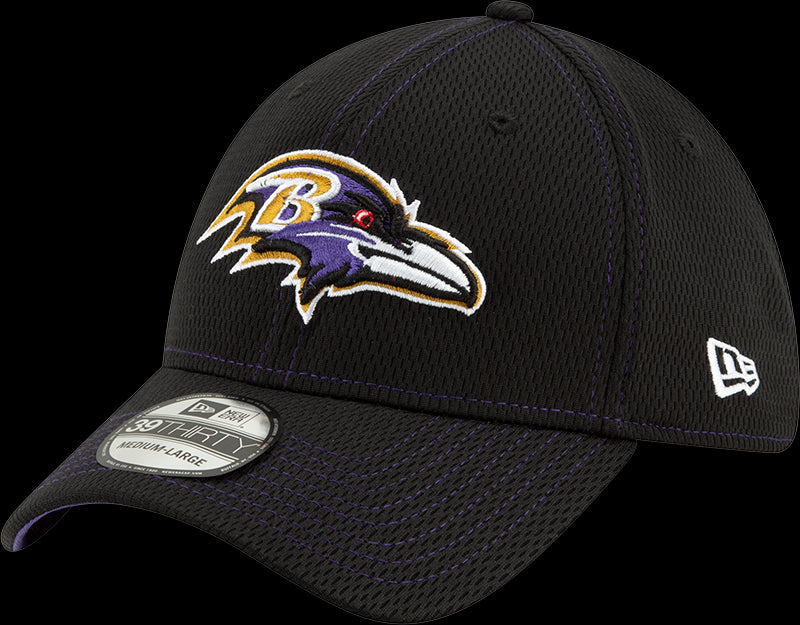 New Era NFL Men's Baltimore Ravens 2019 Sideline Road Official 39THIRTY Flex Hat