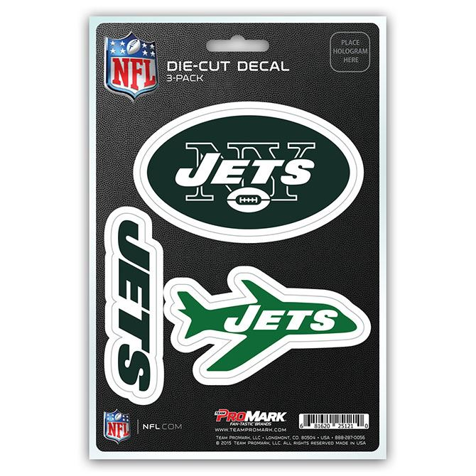 Promark NFL New York Jets Team Decal - Pack of 3