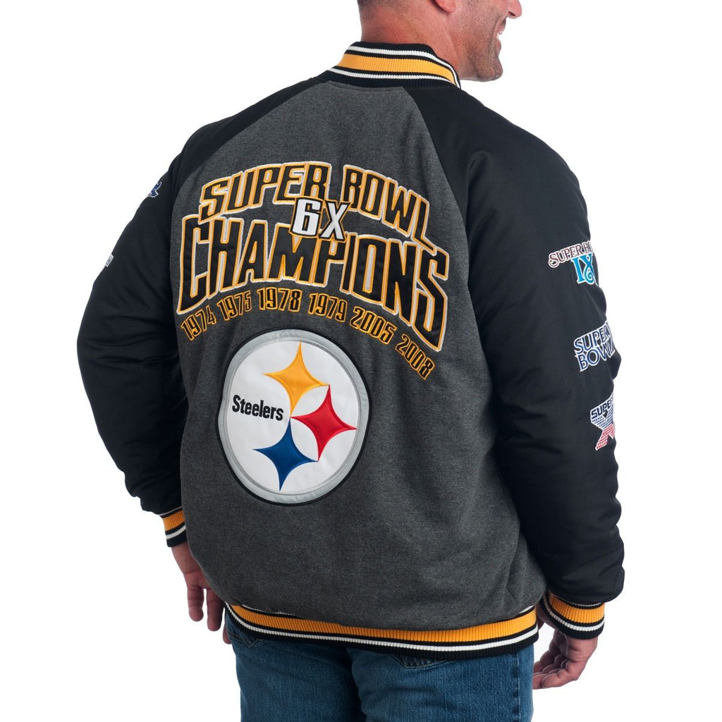 new arrival 6ba09 30c2a G-III NFL Men's Pittsburgh Steelers Power Hitter Varsity ...