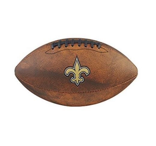 Wilson NFL New Orleans Saints Team Logo Throwback Junior Football Brown11 Inch