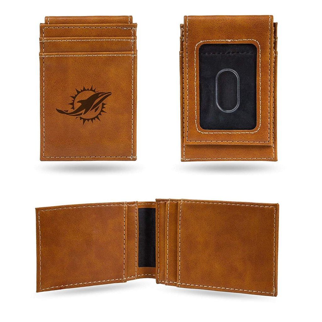 Rico NFL Miami Dolphins Laser Engraved Front Pocket Wallet