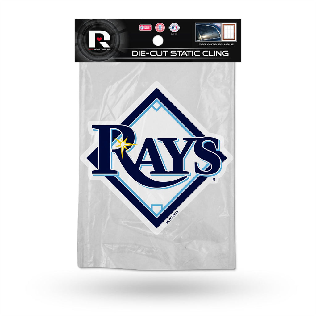 Rico MLB Tampa Bay Rays Shape Cut Static Cling Auto Decal Car Sticker Medium SSCM