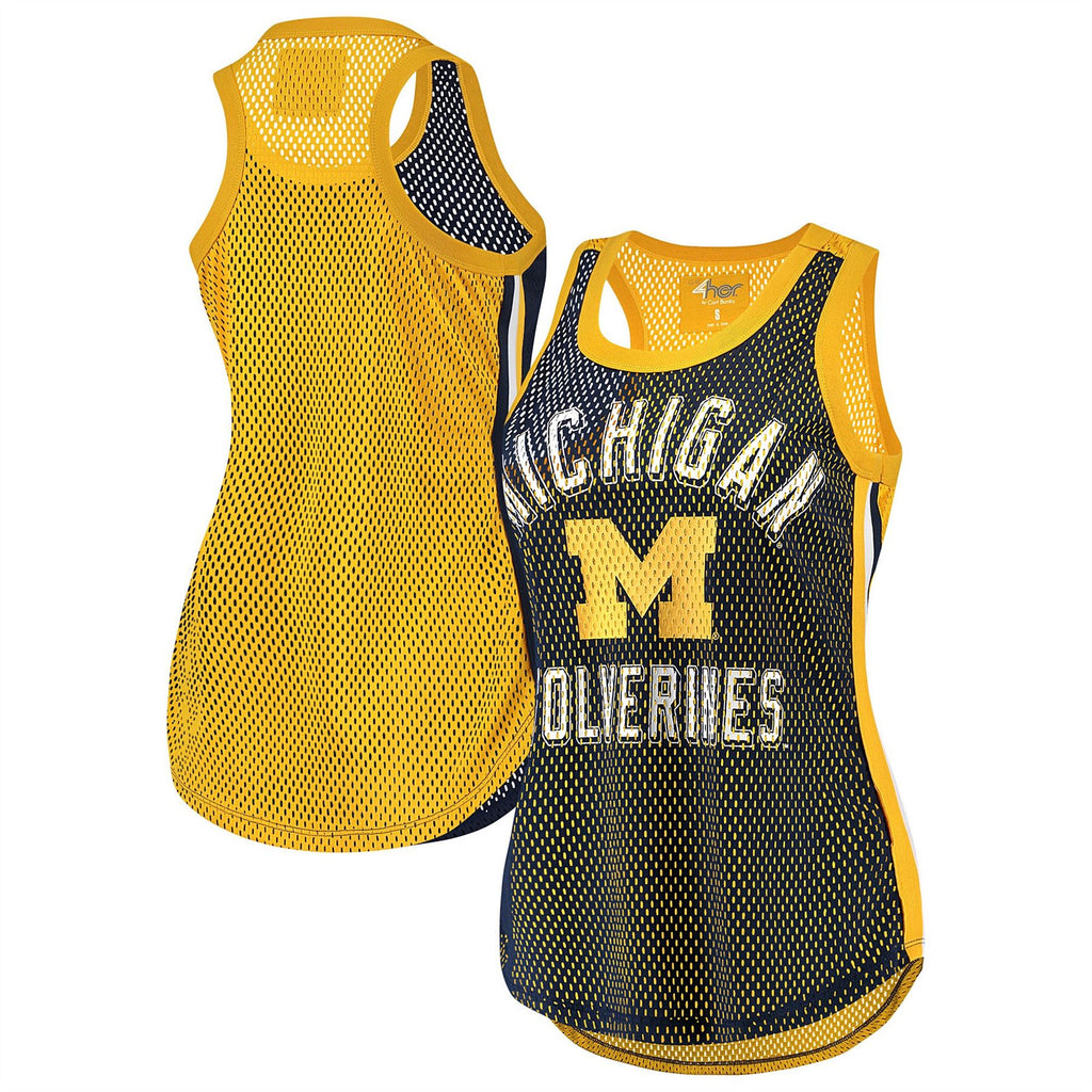 G-III NCAA Women's Michigan Wolverines Comeback Mesh Tank Top