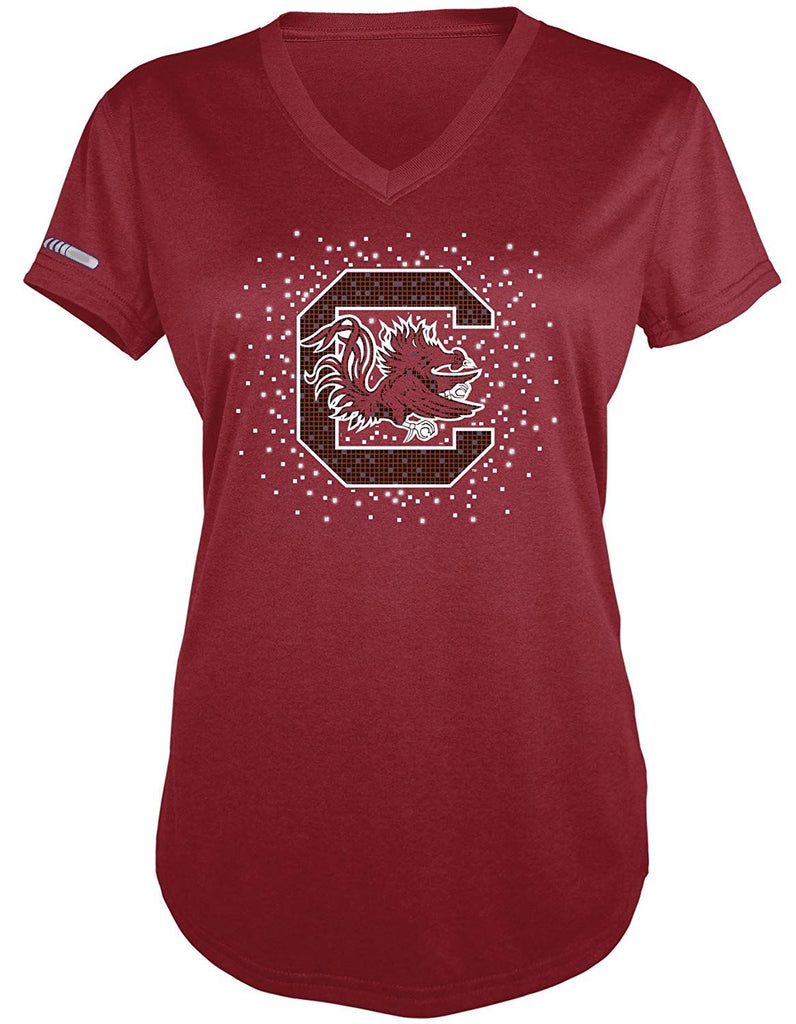 Majestic NCAA Women's South Carolina Gamecocks Particle V-Neck T-Shirt
