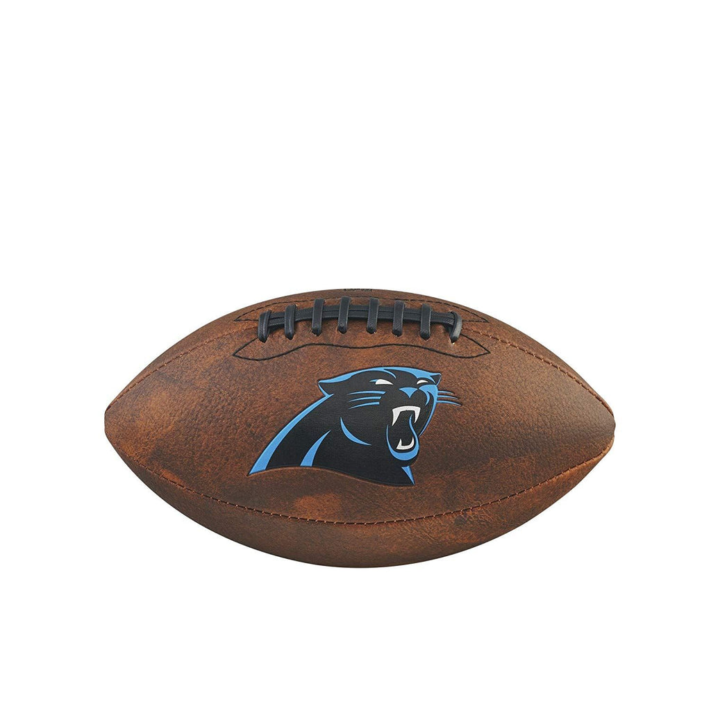 Wilson NFL Carolina Panthers Team Logo Throwback Junior Football Brown11 Inch