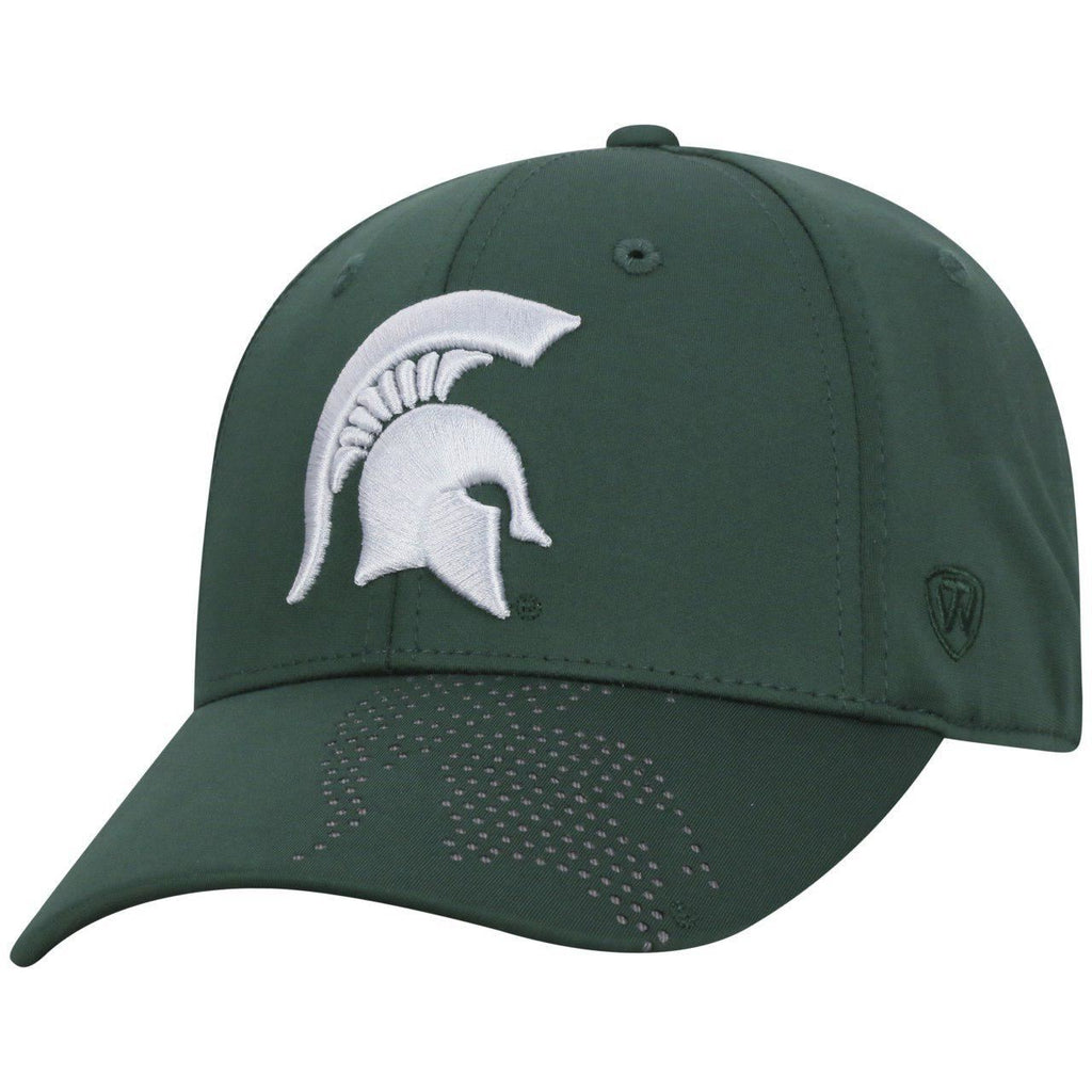 best website a18d6 b1c17 Top Of The World NCAA Men s Michigan State Spartans Pitted Memory Fit Flex  Fit Hat Green