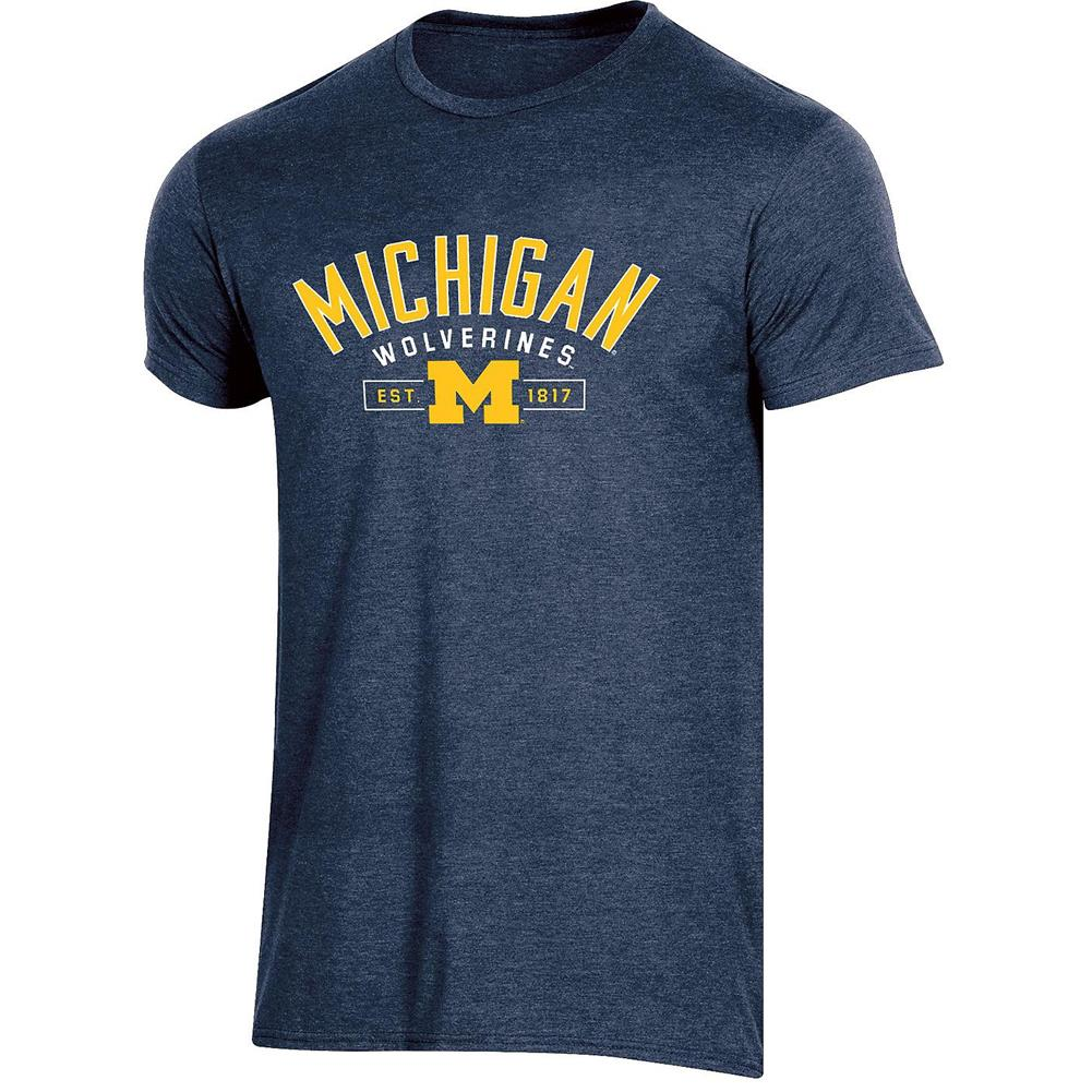 Champion NCAA Men's Michigan Wolverines Established Wordmark T-Shirt