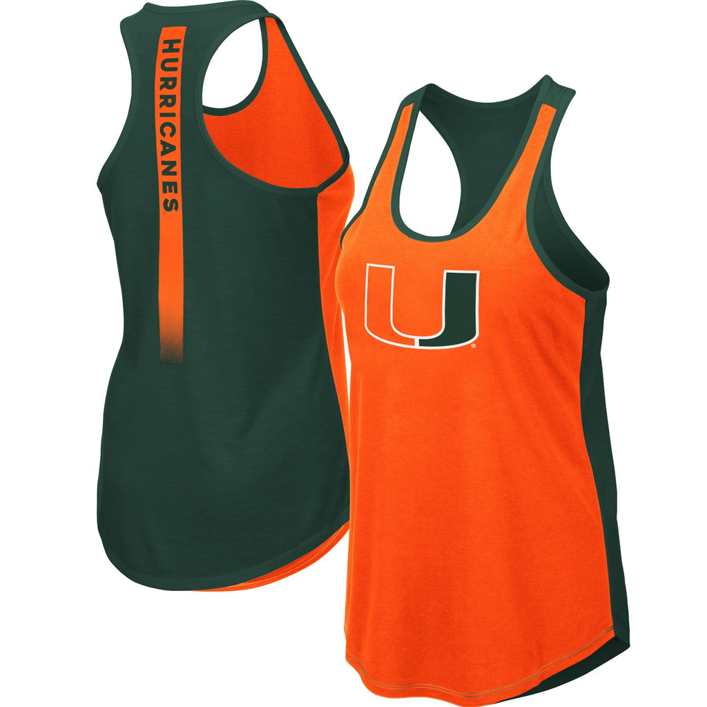 Colosseum NCAA Women's Miami Hurricanes Publicist Tank Top