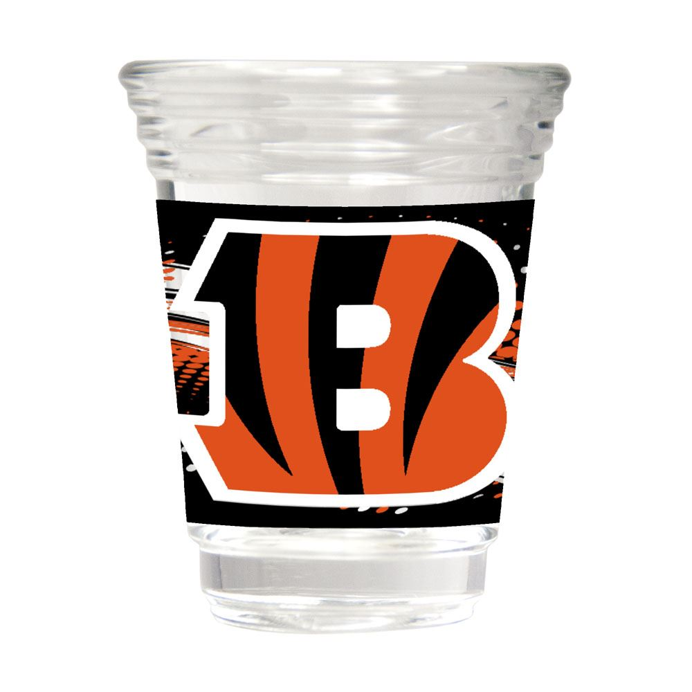 Great American Products NFL Cincinnati Bengals Party Shot Glass w/Metallic Graphics 2oz.