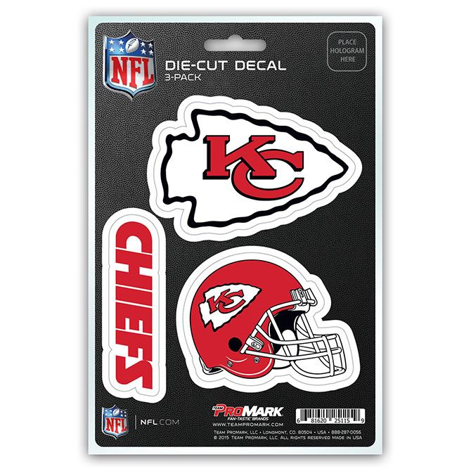 Promark NFL Kansas City Chiefs Team Decal - Pack of 3