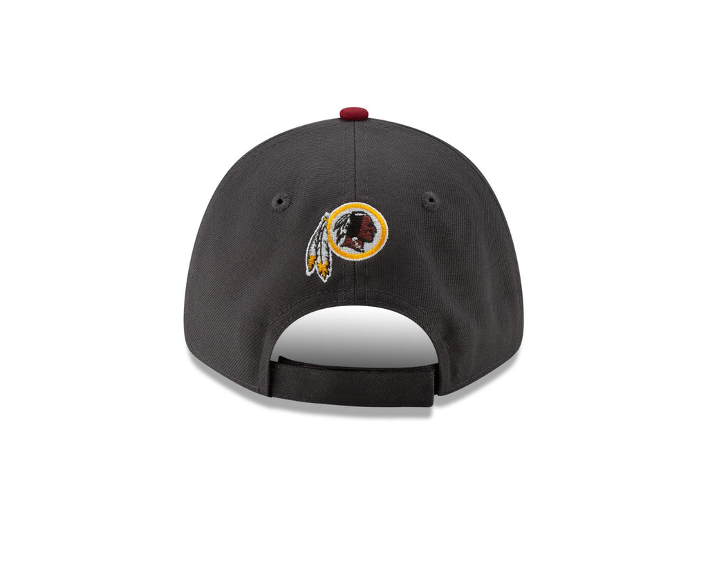 New Era NFL Men's Washington Redskins The League Graphite 9FORTY Adjustable Hat Graphite One Size