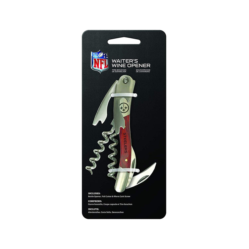 The Sports Vault NFL Pittsburgh Steelers Wine Opener