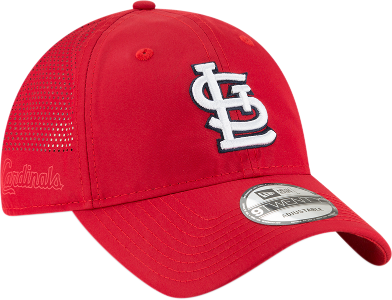New Era MLB Men's St. louis Cardinals Perforated Slick 9TWENTY Adjustable Hat