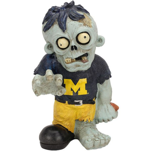 Forever Collectibles NCAA Michigan Wolverines Resin Zombie Figurine 8.5-Inch