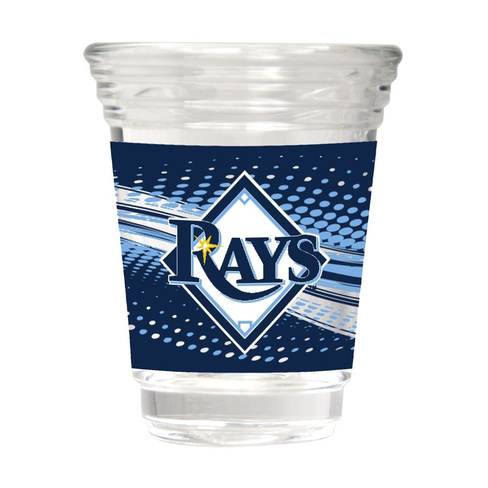 Great American Products MLB Tampa Bay Rays Party Shot Glass w/Metallic Graphics 2oz.