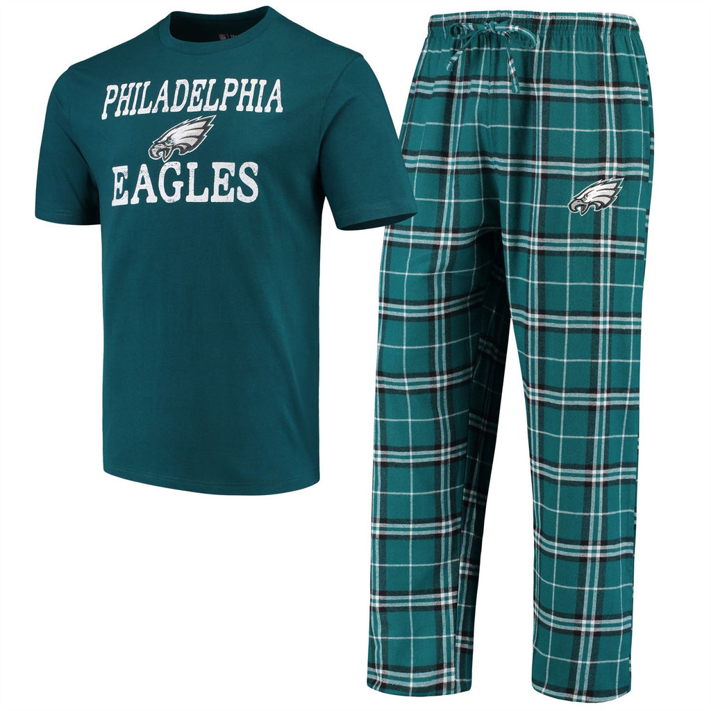 Concept Sports NFL Men's Philadelphia Eagles Duo Shirt And Pants Pajama Sleepwear Set