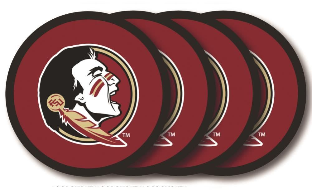 Duck House NCAA Florida State Seminoles Coaster Set 4-Pack