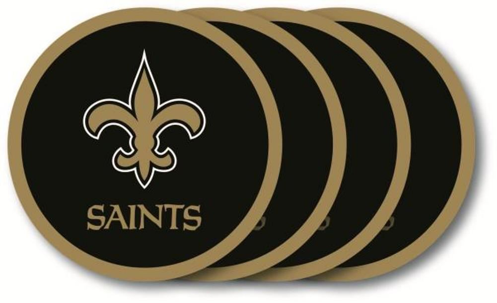 Duck House NFL New Orleans Saints Coaster Set 4-Pack
