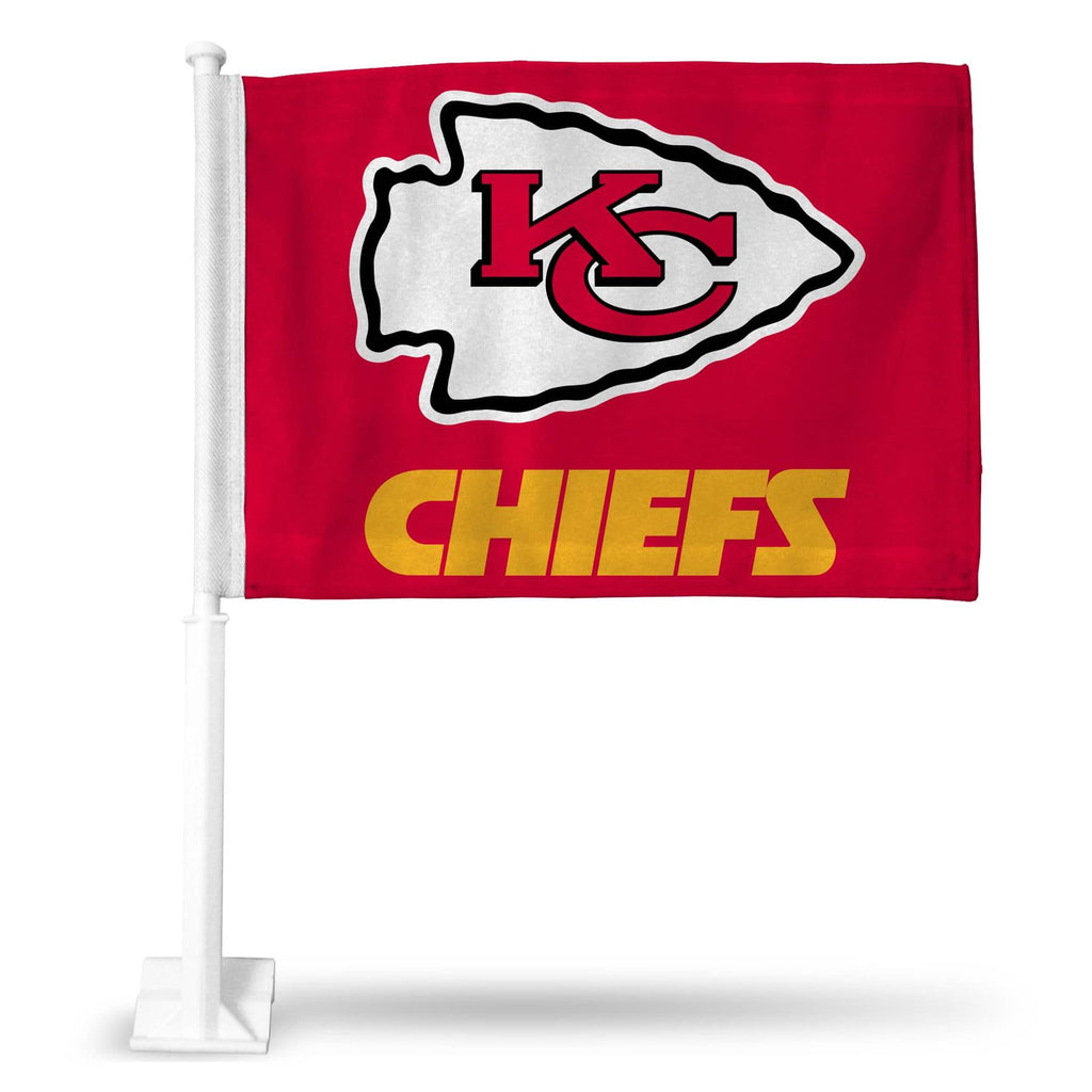 "Rico NFL Kansas City Chiefs Car Flag Red 15"" x 11"""