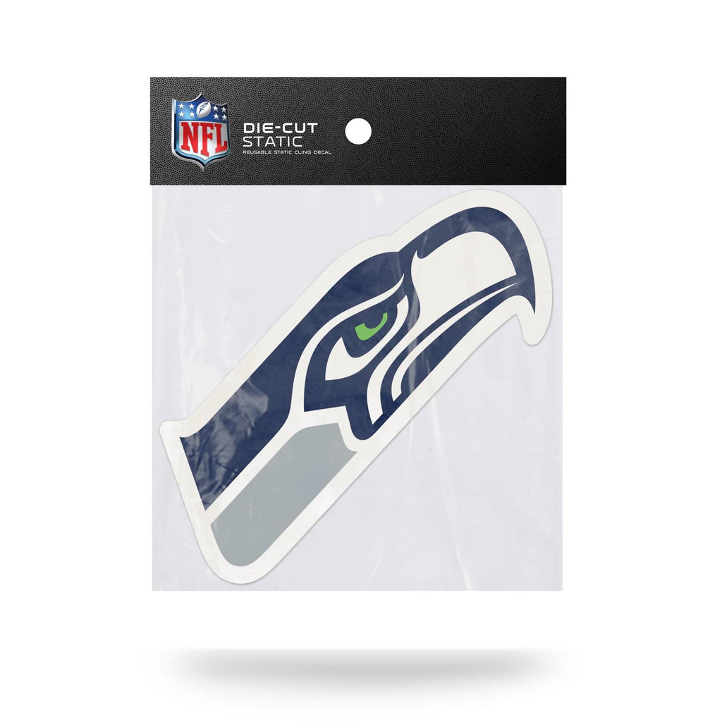 Rico NFL Seattle Seahawks Shape Cut Static Cling Auto Decal Car Sticker Medium SSCM