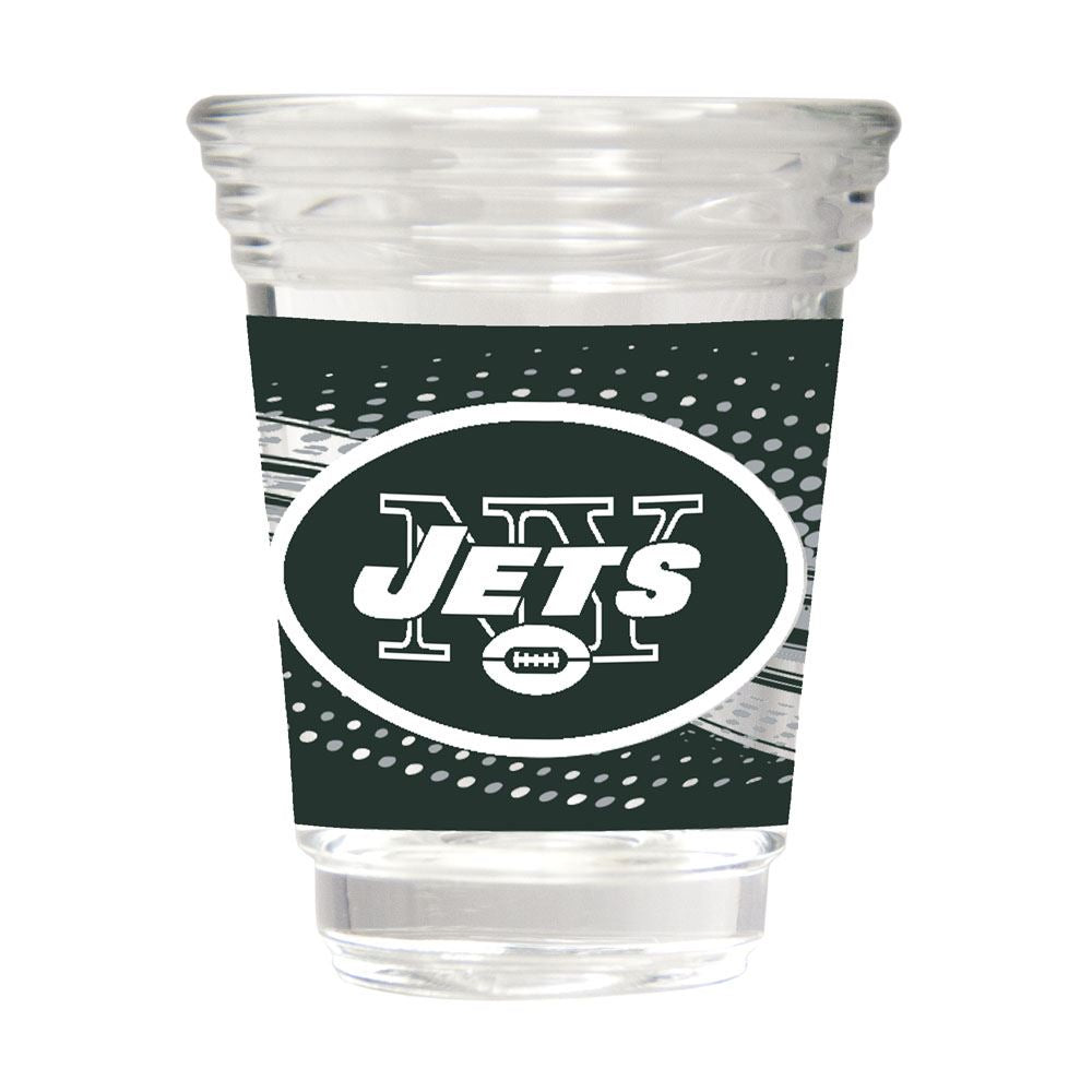 Great American Products NFL New York Jets Party Shot Glass w/Metallic Graphics 2oz.