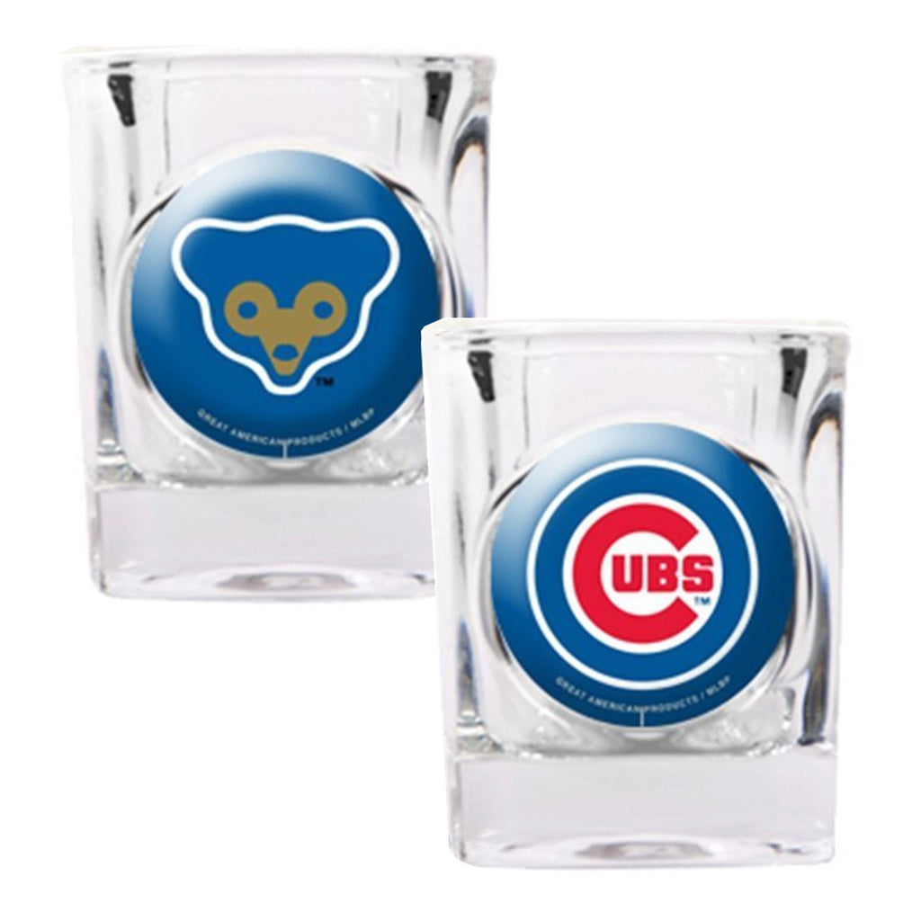 Great American Products MLB Chicago Cubs 2-Pack Shot Glass Gift Set
