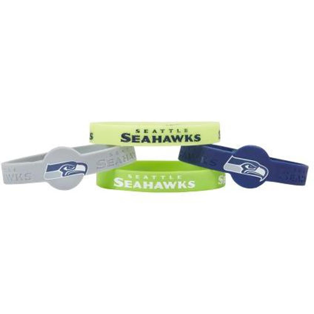 Aminco NFL Seattle Seahawks 4-Pack Silicone Bracelets