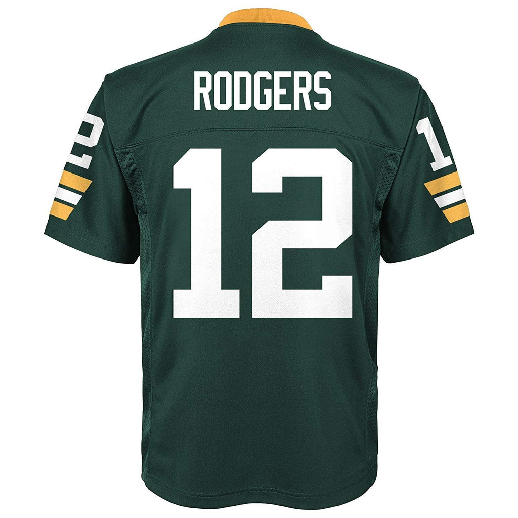 Outerstuff NFL Youth #12 Aaron Rodgers Green Bay Packers Performance Fashion Jersey