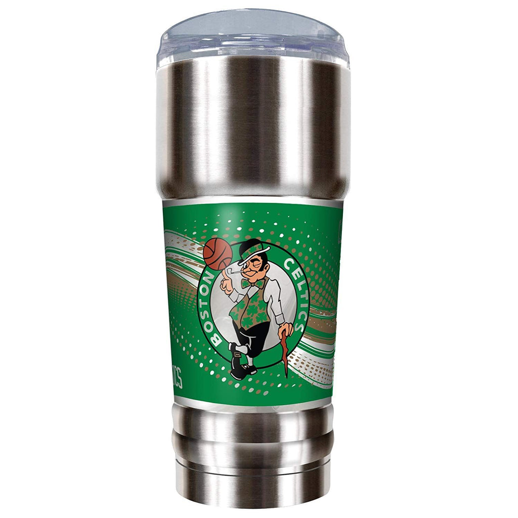 Great American Products NBA Boston Celtics PRO Tumbler with Metallic Graphics Silver 32 oz