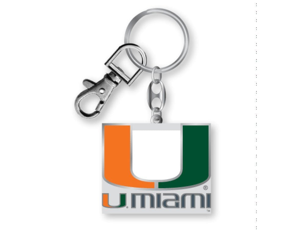 Aminco NCAA Miami Hurricanes Heavyweight Keychain
