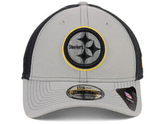 New Era NFL Men's Pittsburgh Steelers 2 Tone Sided 39THIRTY Hat Gray/Black