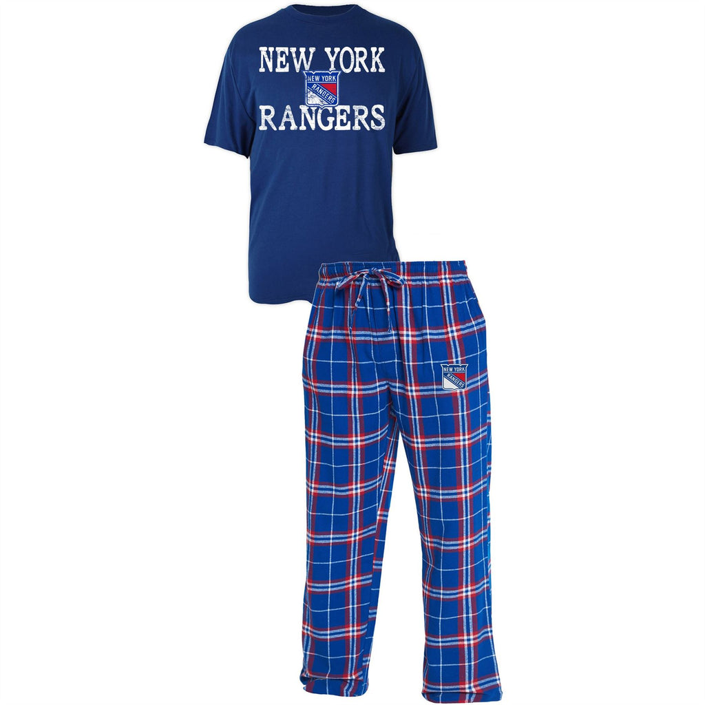 Concept Sports NHL Men's New York Rangers Duo Shirt And Pants Pajama Sleepwear Set