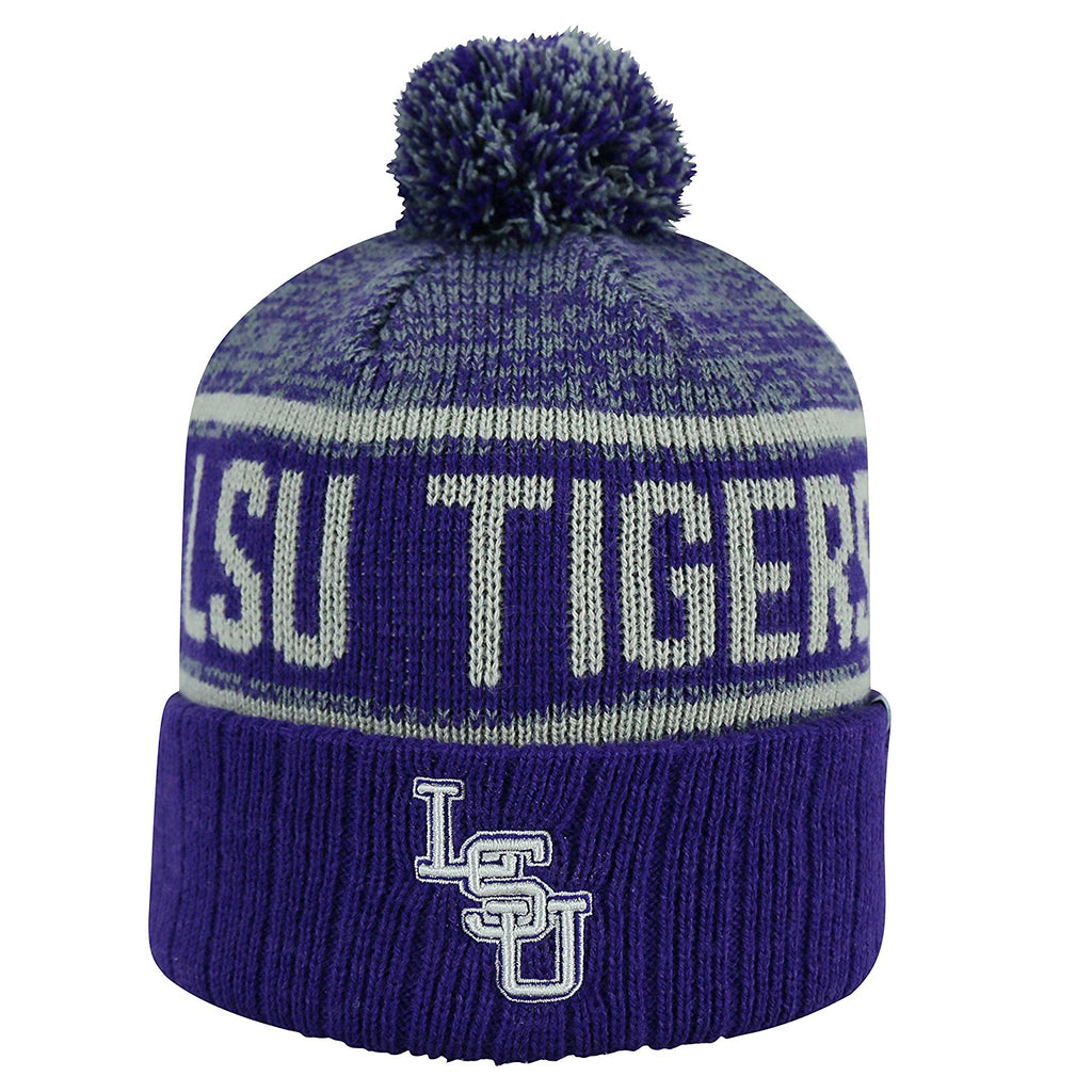 Top Of The World NCAA LSU Tigers Men's Three Tone Acid Rain Knit Cuffed Beanie