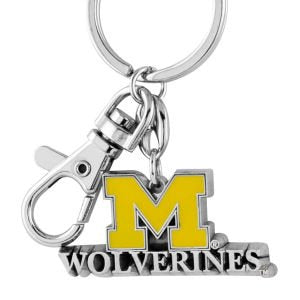 Aminco NCAA Michigan Wolverines Heavyweight Keychain