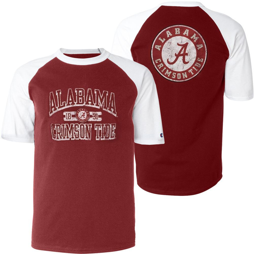 Champion NCAA Men's Alabama Crimson Tide Run And Shoot T-Shirt
