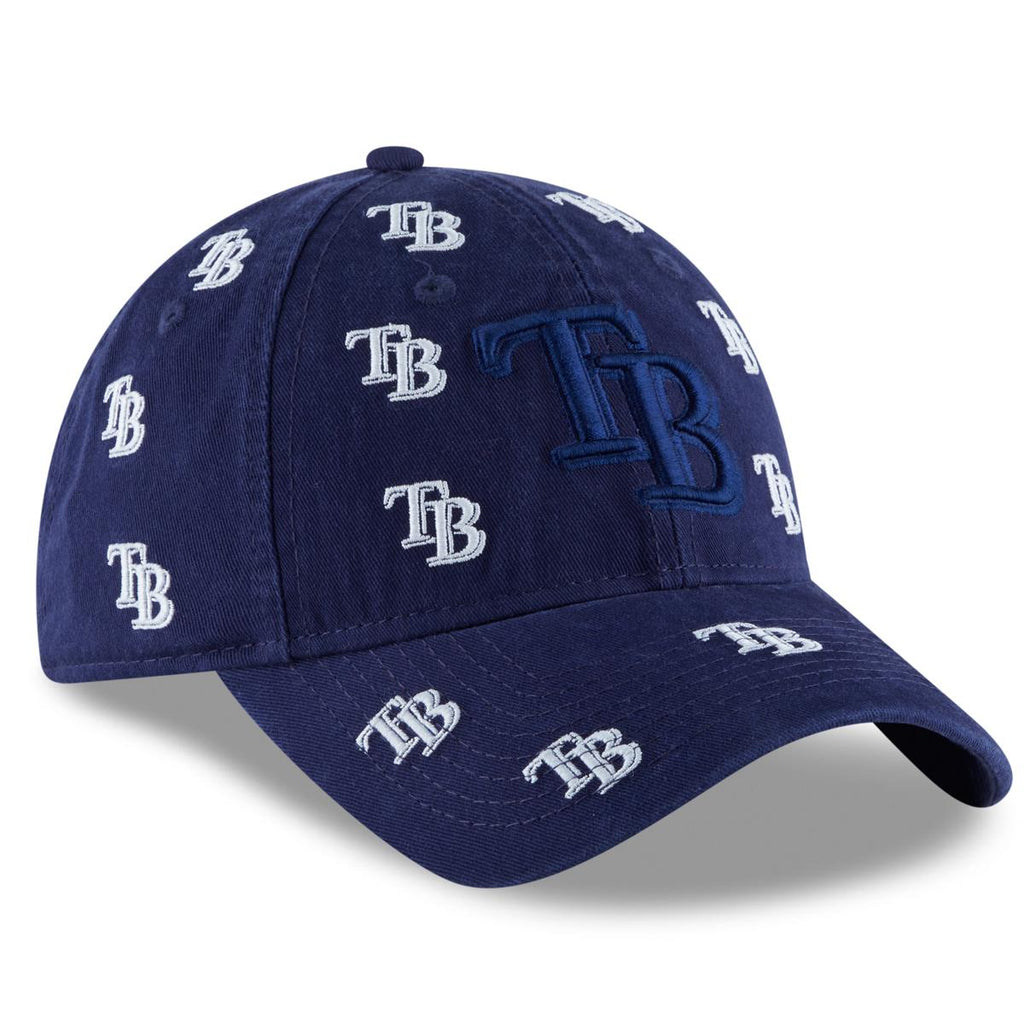 online store 4539f f984d New Era MLB Women s Tampa Bay Rays Logo Scatter 9TWENTY Adjustable  Strapback Hat Navy One Size