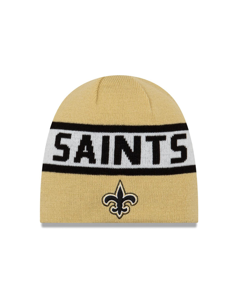 New Era NFL New Orleans Saints Reversible Knit Beanie Black/Gold OSFA