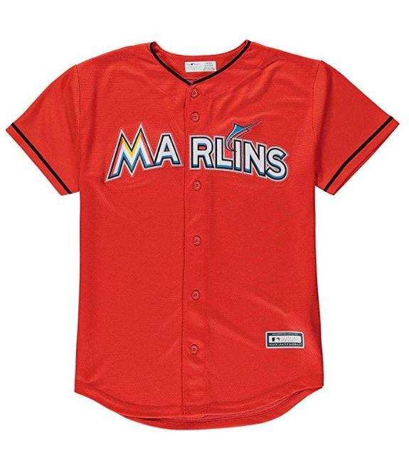 Majestic MLB Youth Miami Marlins Alternate Replica Jersey