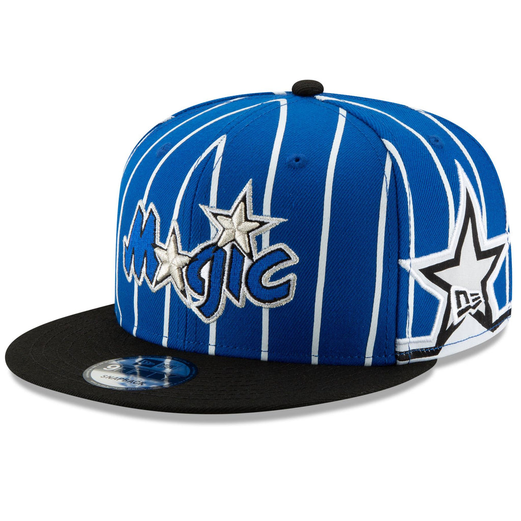 New Era NBA Men's Orlando Magic Hardwood Classic Nights 3 9Fifty Adjustable Snapback Hat Blue