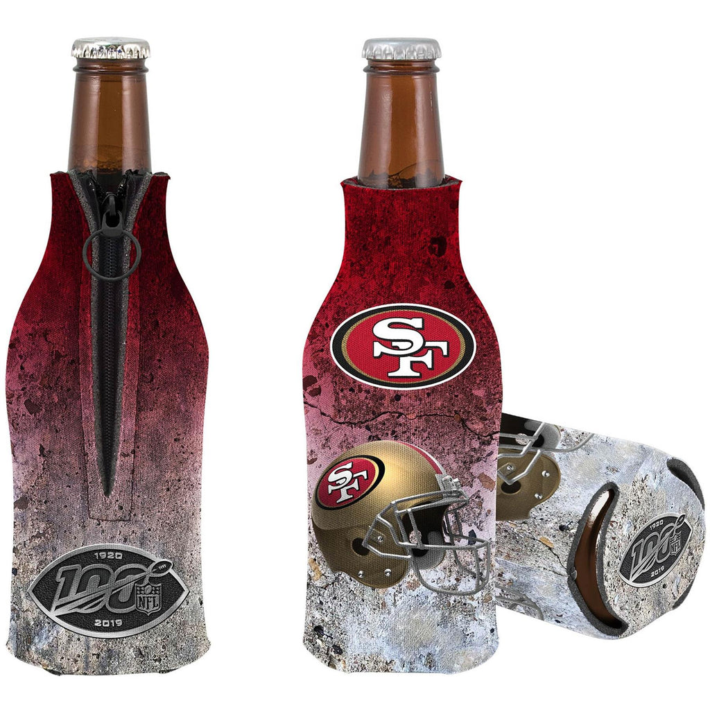 Kolder NFL San Francisco 49ers NFL 100th Season Zip Bottle Coolie Koozie