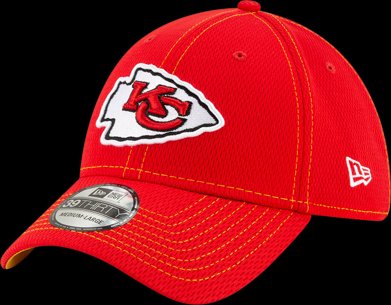 New Era NFL Men's Kansas City Chiefs 2019 Sideline Road Official 39THIRTY Flex Hat