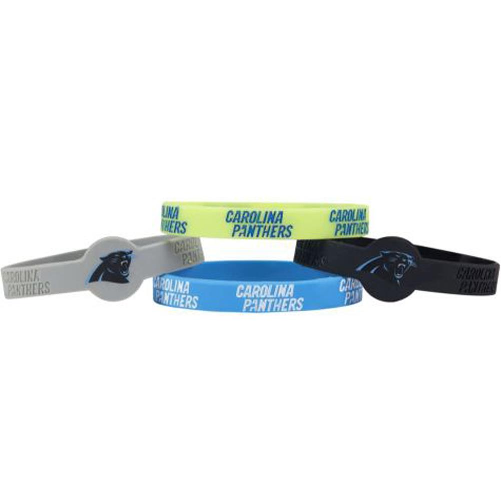 Aminco NFL Carolina Panthers 4-Pack Silicone Bracelets