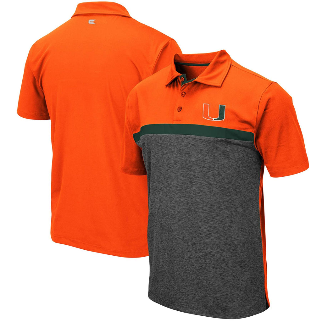 Colosseum NCAA Men's Miami Hurricanes Capital City Polo